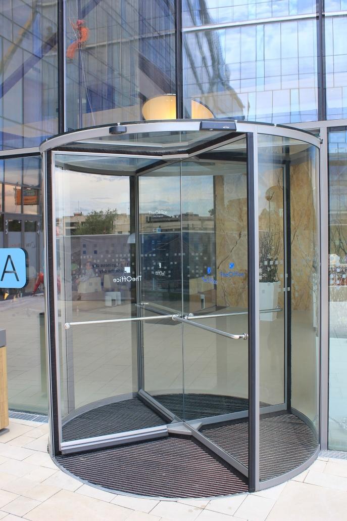 The Office, Cluj, Blasi, Usi automate rotative, usi sticla, cladire birouri