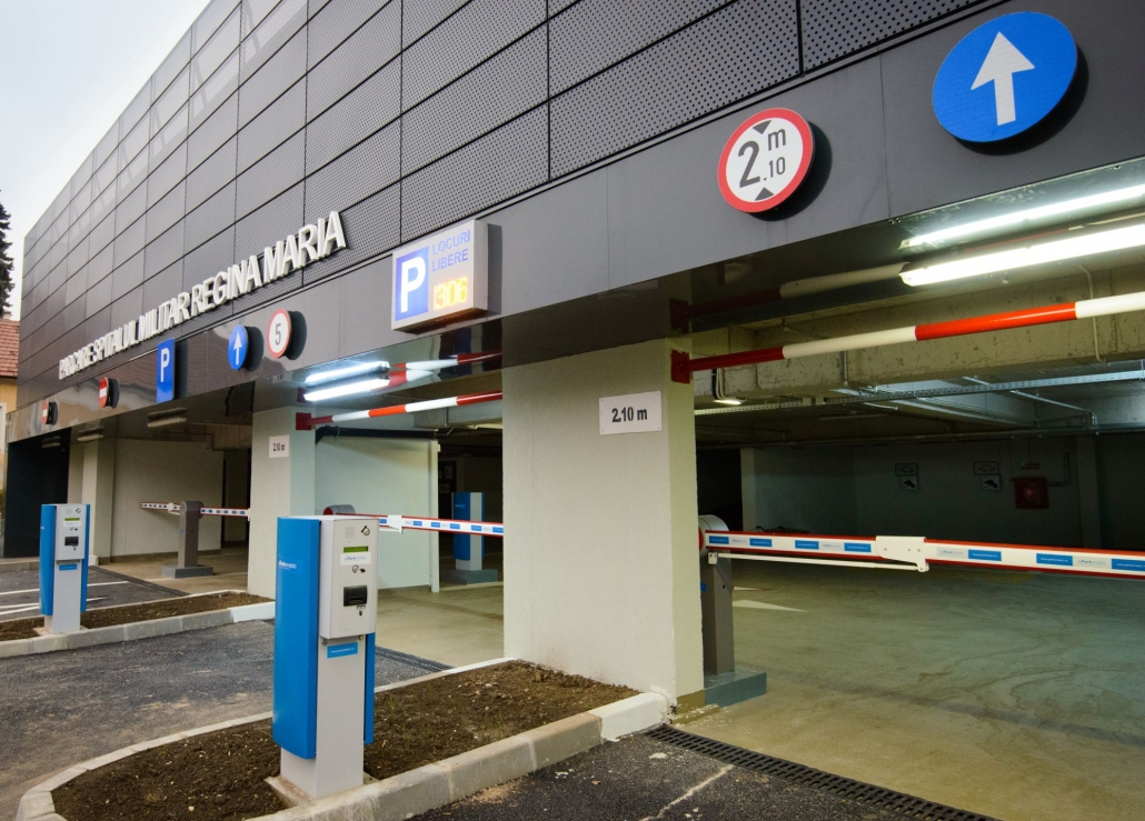 Spitalul Militar Regina Maria, sistem de parcare, Parcare Brasov, bariere parcare